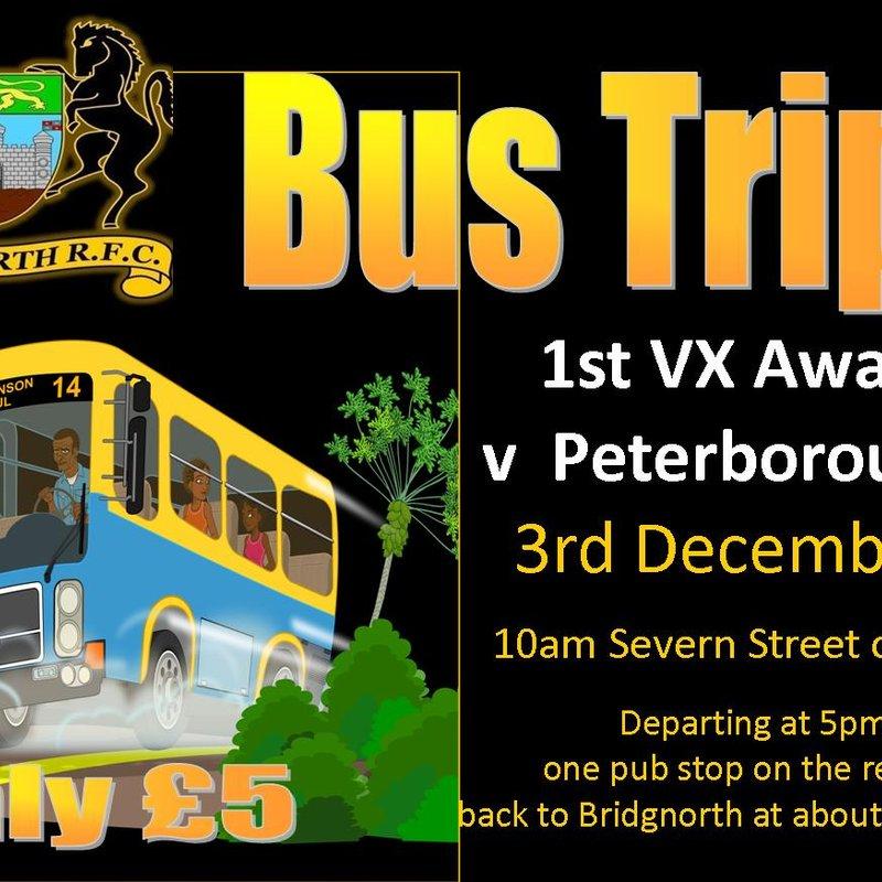 Bus trip to Peterborough RFC