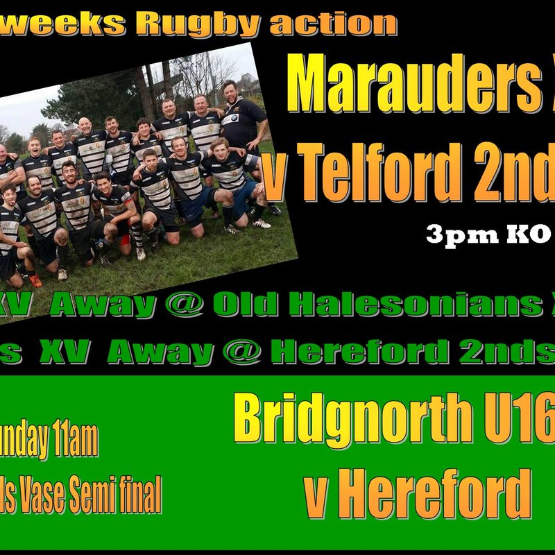 Rugby action this Saturday