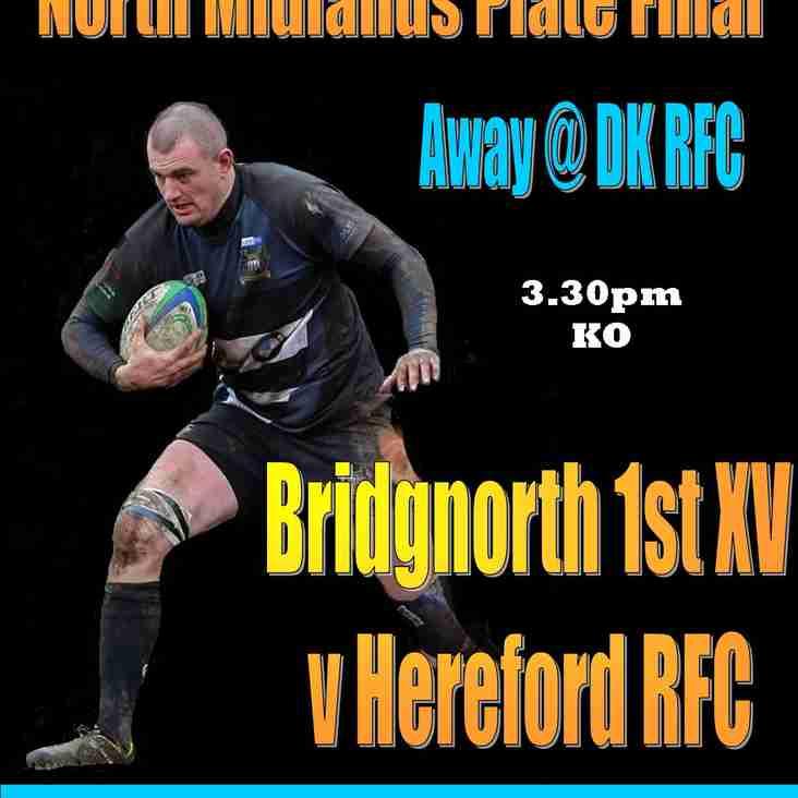 1st XV v Hereford this Sunday (7th)