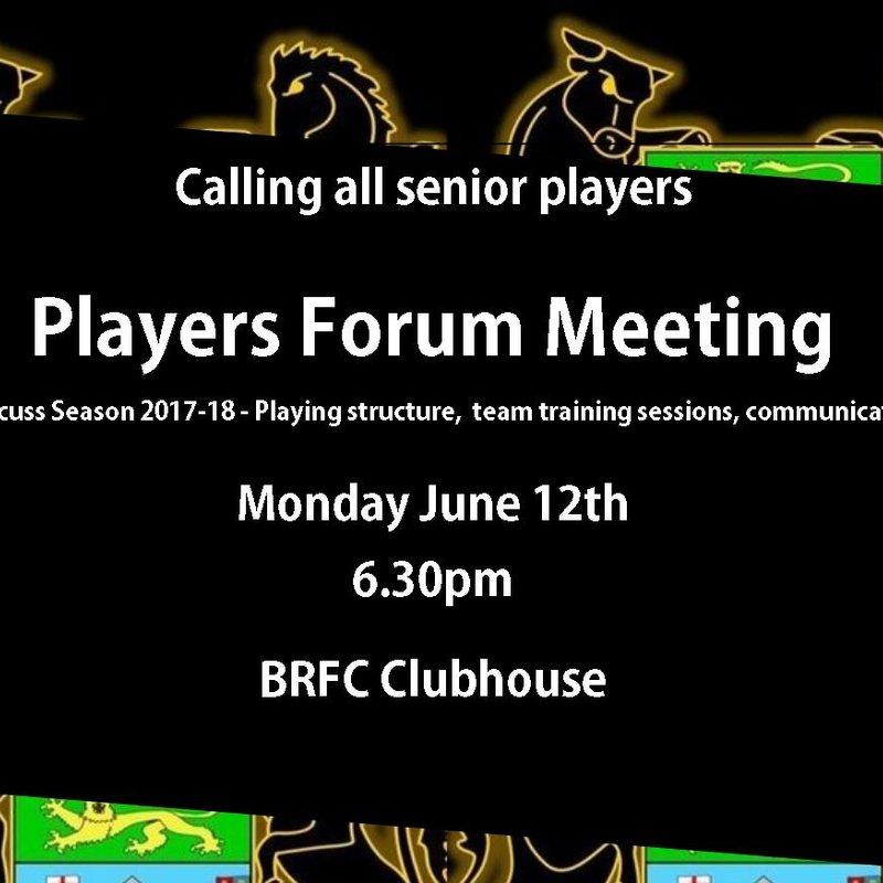 Senior Players forum meeting