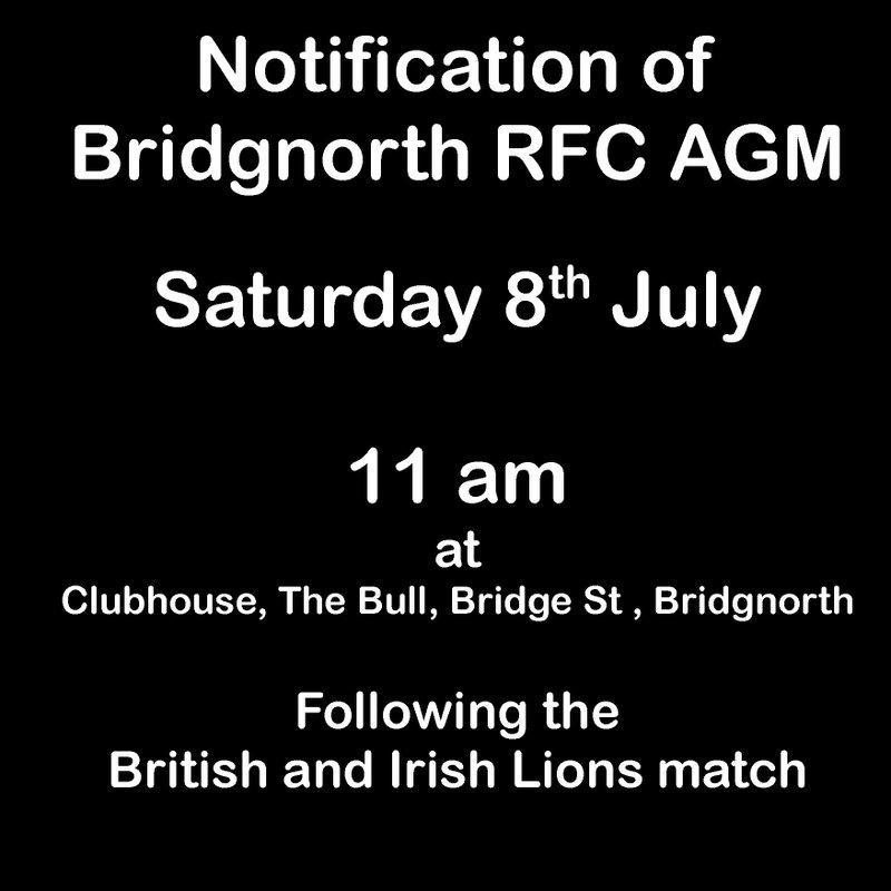 AGM Saturday 8th July