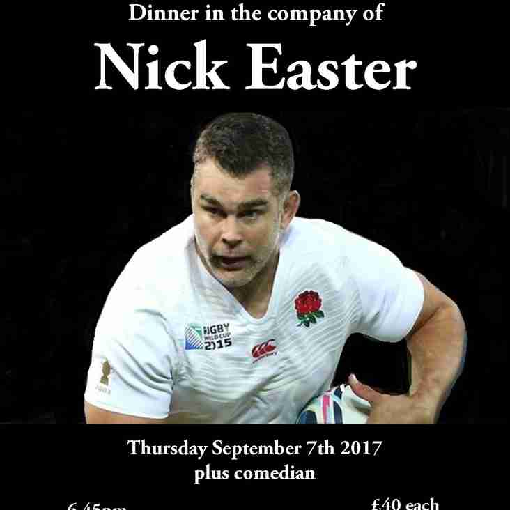 Dinner in the company of Nick Easter