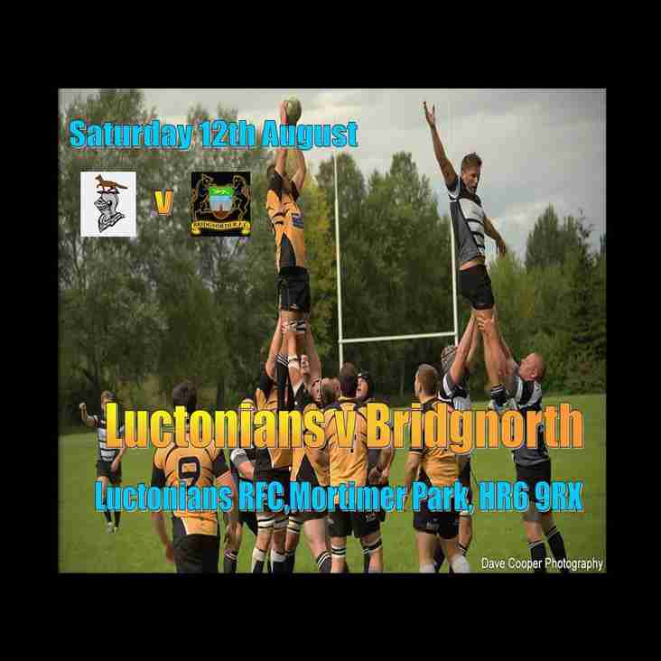 1st and 2nds now Away this Saturday, 12th August