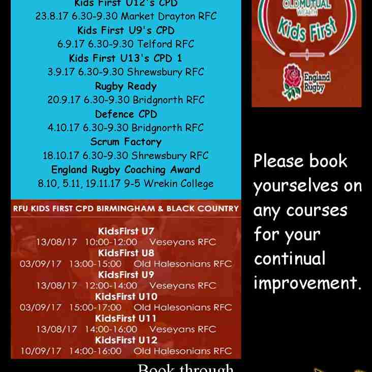 Coaching courses available, book asap.