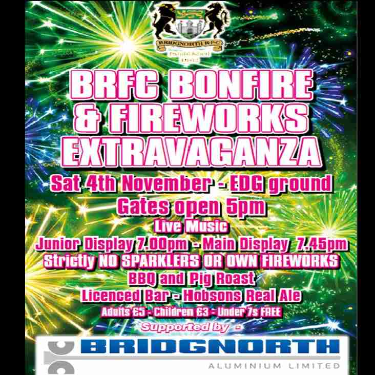 BRFC Bonfire and Fireworks Extravaganza!!