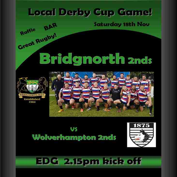2nd Team in Cup quarter final derby this Saturday! 2.15ko