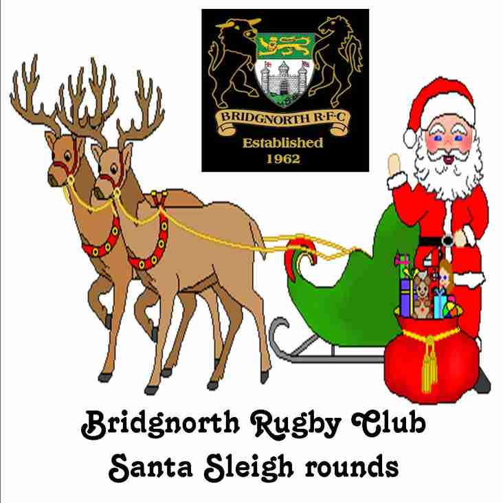 Rugby club takes Santa around the streets!