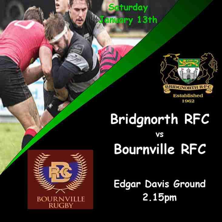 Dales Mails — Bridgnorth RFC vs Bournville RFC – 13th January 2018