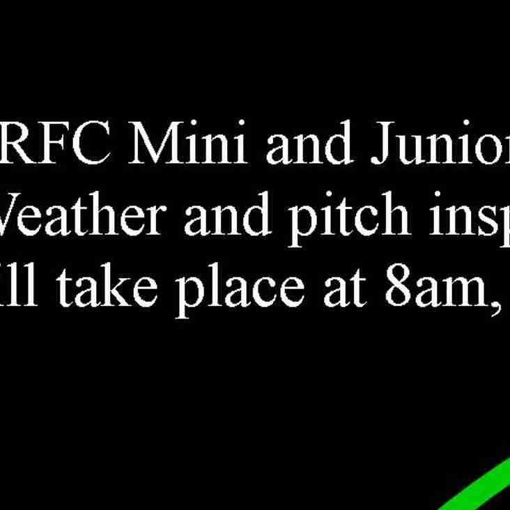 Mini and Juniors Sunday 21st January.
