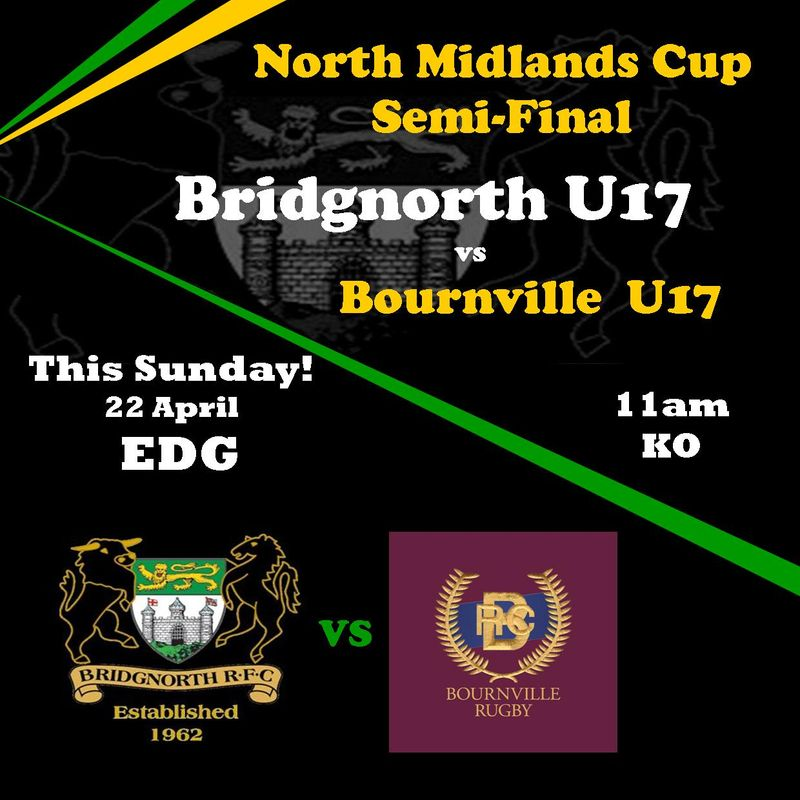 Big Game Sunday! U17 North Midlands Cup Semi Final.