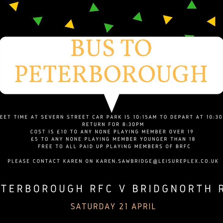 1st XV travel to Peterborough RFC