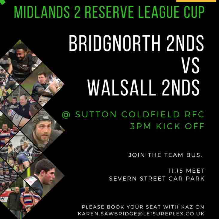 Midlands 2 Reserve League Cup Final this Saturday!