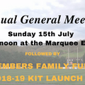 AGM - Sunday15th July