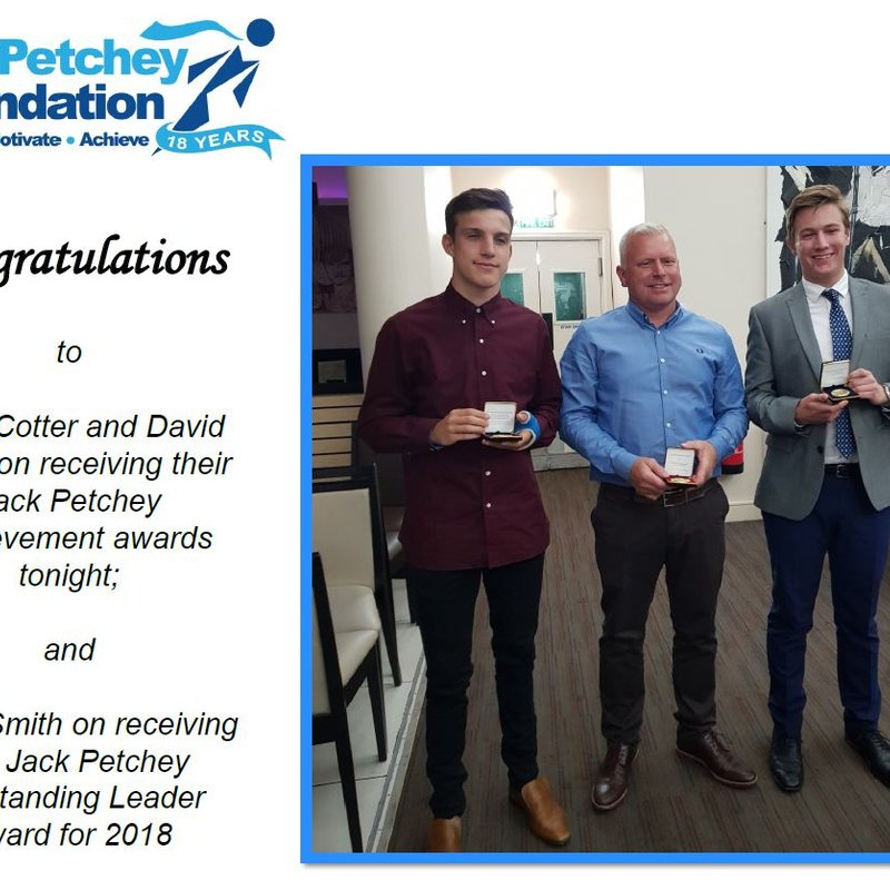 Jack Petchey Awards for Eels Trio!