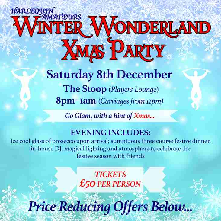 Harlequin Amateurs Adult Winter Wonderland Xmas Party