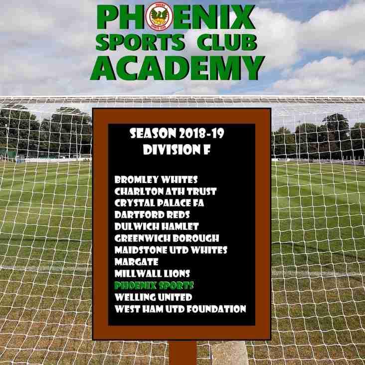 Phoenix Academy Season 2018-19 League Line-Up