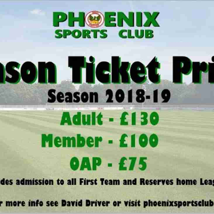 Phoenix Sports Season Ticket Prices 2018-19