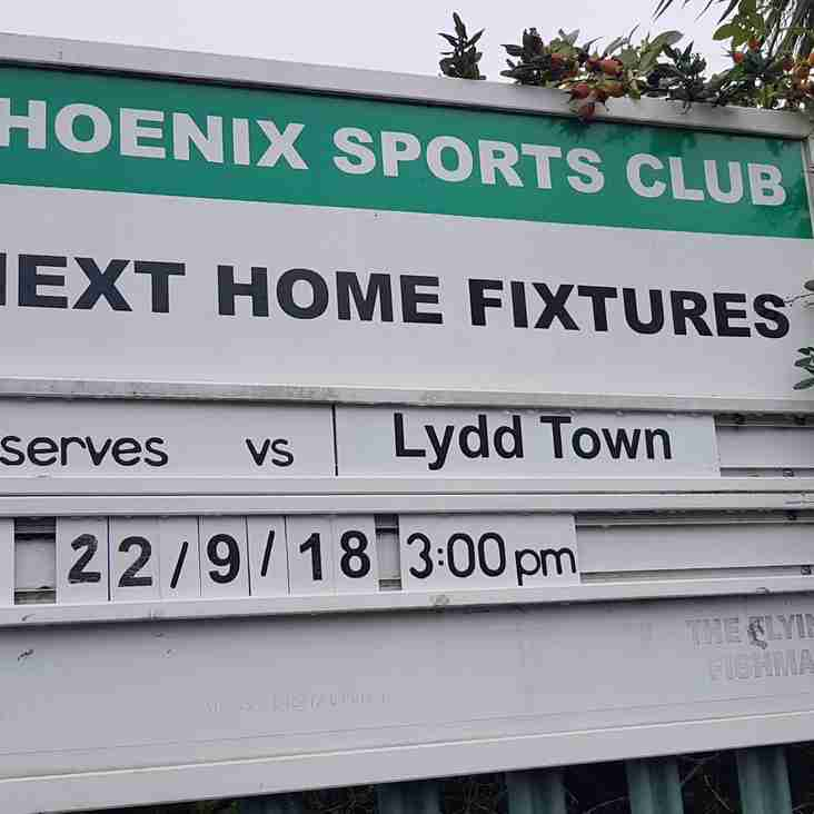 Phoenix Sports Res 6-2 Lydd Town