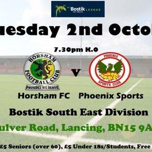 Horsham 3-2 Phoenix Sports