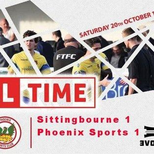Sittingbourne 1-1 Phoenix Sports