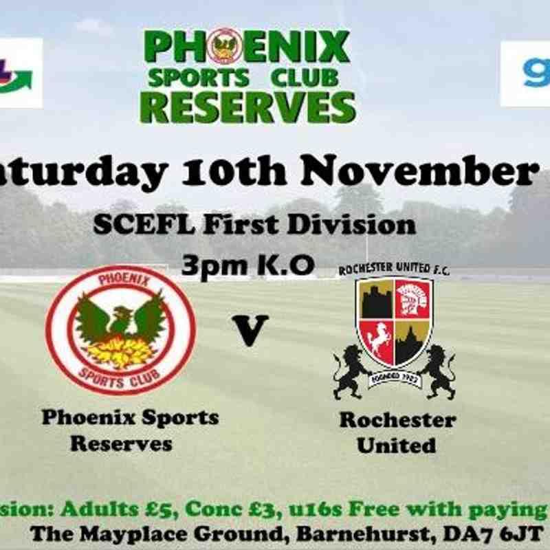 Phoenix Sports Reserves v Rochester United