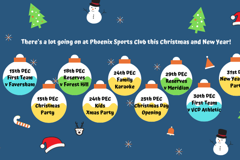 Phoenix Sports Club - Christmas and New Year