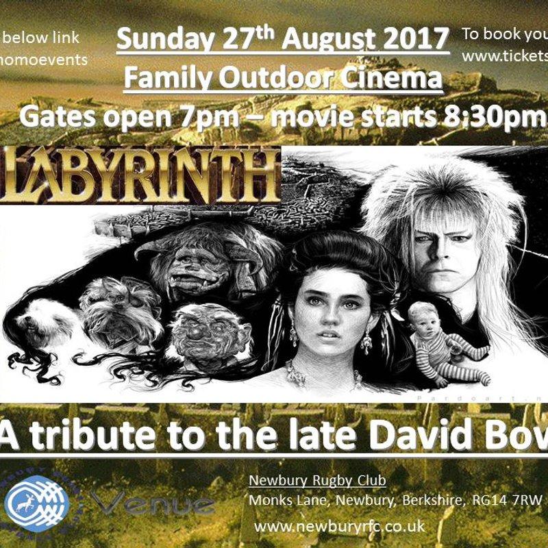 "Outdoor Cinema - ""Labyrinth"" - Sun 27 August"