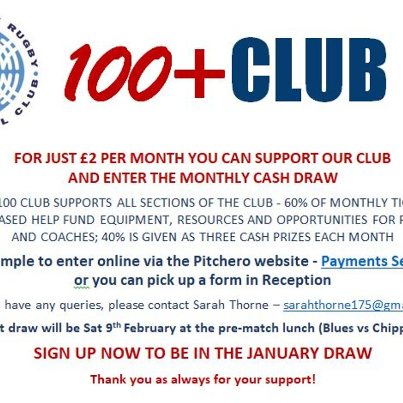 Invitation to join NRFC's '100+ Club'