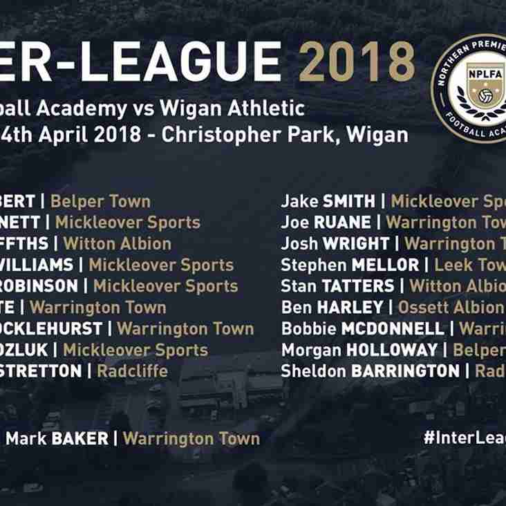 Inter League Squad to play Wigan Athletic.