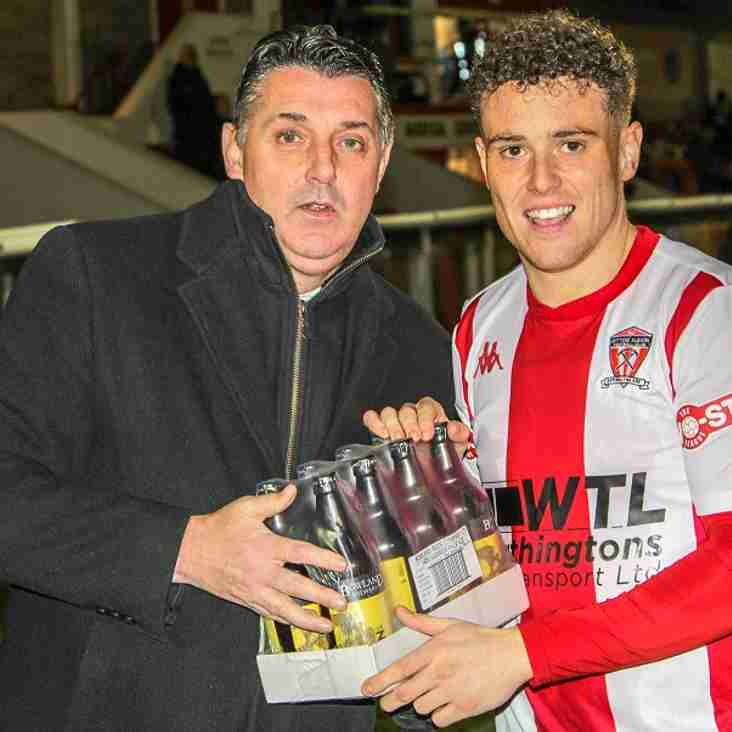 "WITTON ALBION ""PLAYER OF THE MONTH"" - SEPTEMBER."