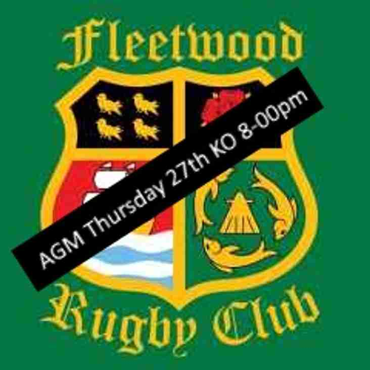 AGM Thursday 27th in the clubhouse 8-00pm PROMPT