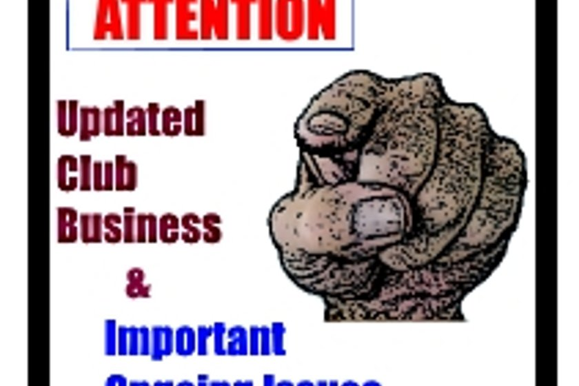 Information & Current Issues for your attention. UPDATED