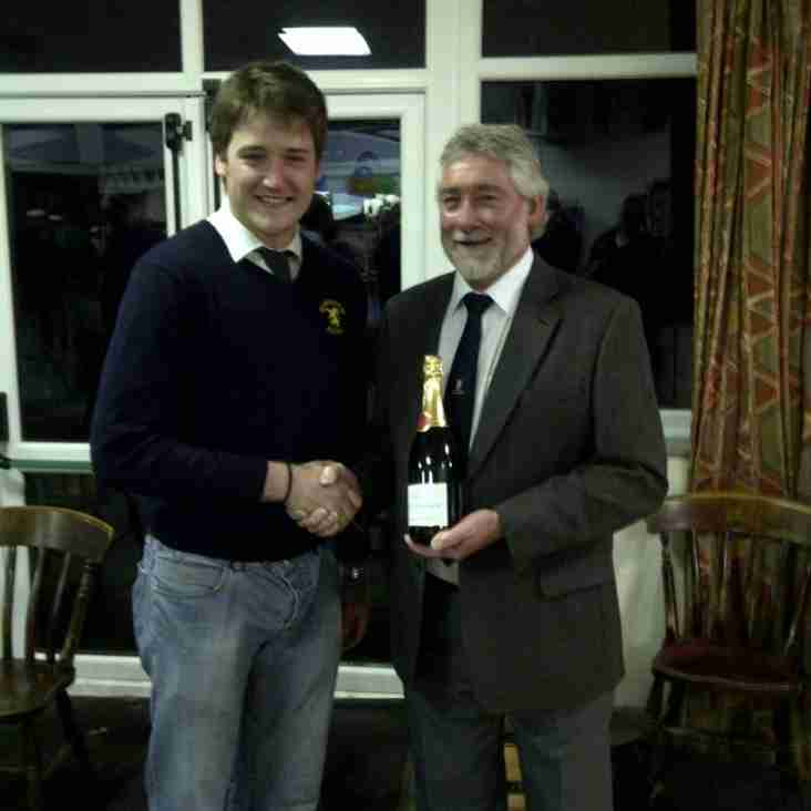 Bolney Wine Estates Man of the Match 14th Jan 2012