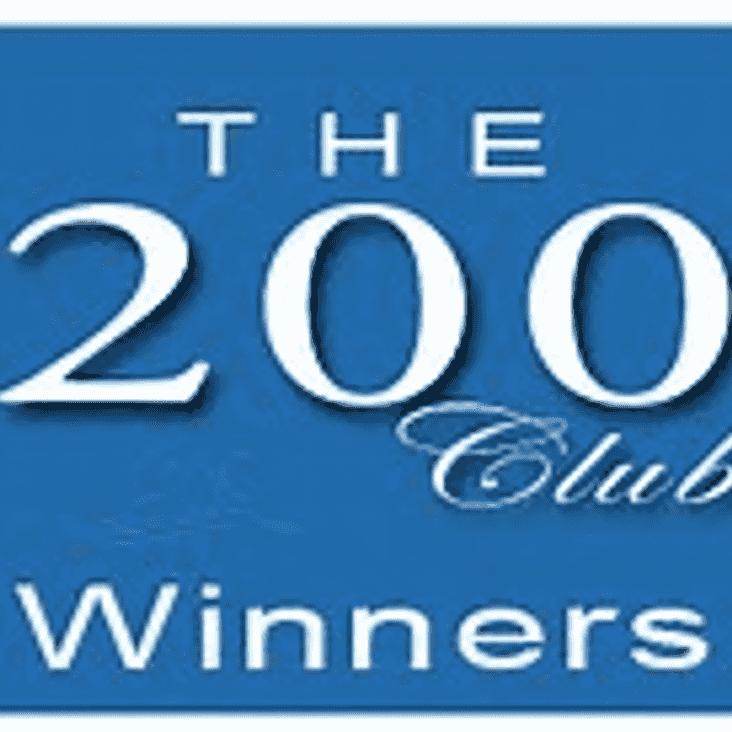 200 Club Winners drawn