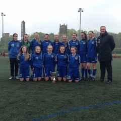 Curzon Ashton Girls U14'S Treble Winners 15/16