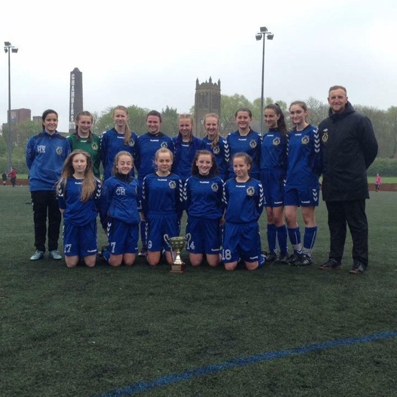 Curzon Ashton Girls U14'S Treble Winners 15/16