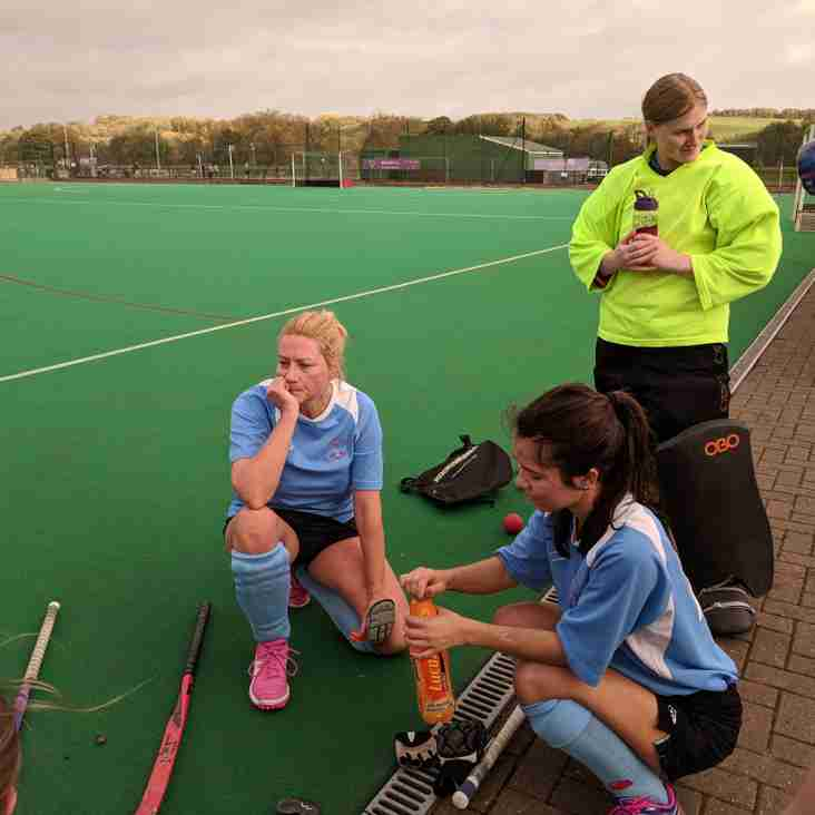A hard game for Ladies 1st XI