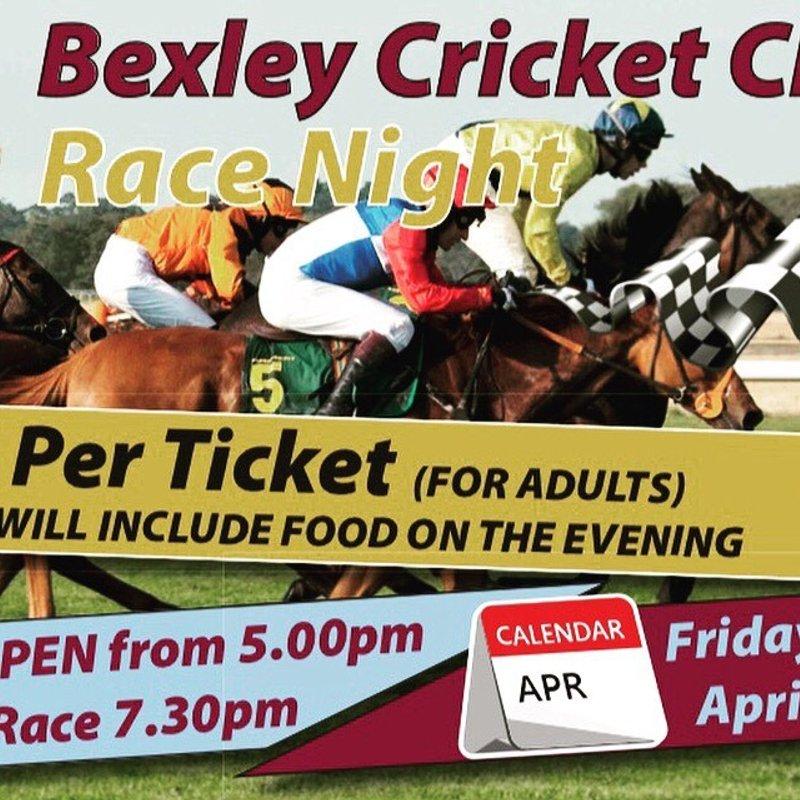 Bexley CC Race Night - Friday 26th April