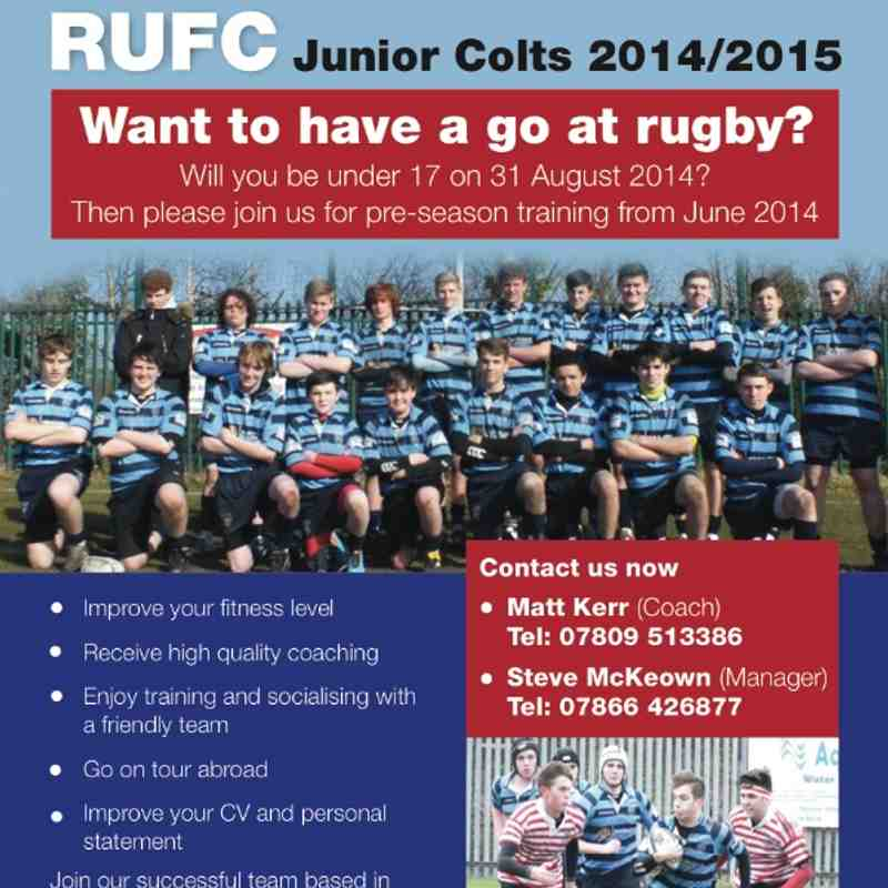 U17 / Junior Colts Recruitment Poster