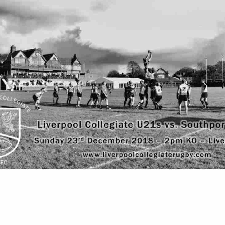 U21s Christmas Cup vs Southport