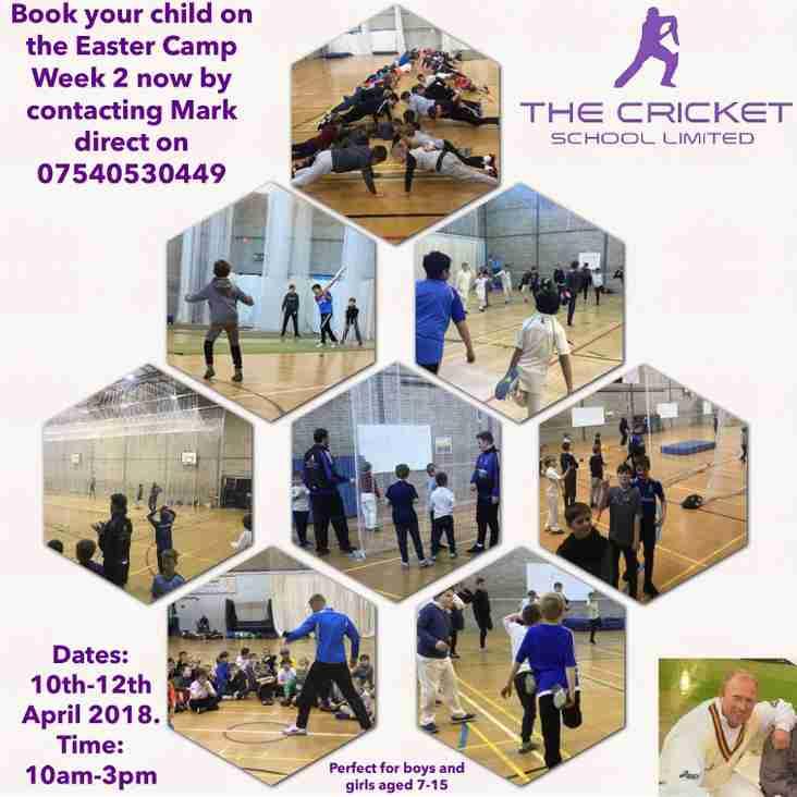 The Cricket School Easter Camp Week 2 2018