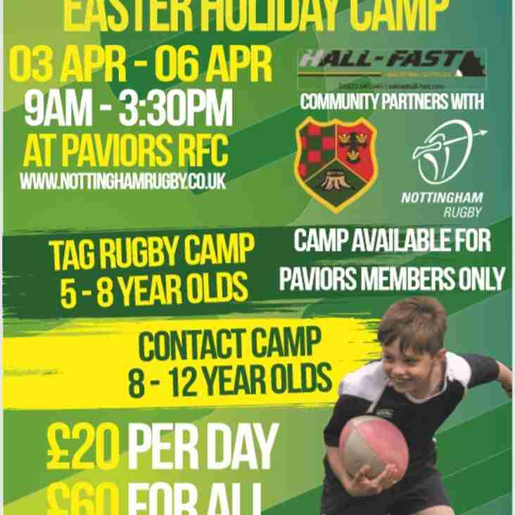 Nottingham RFC Easter Holiday camp comes to BurntStump