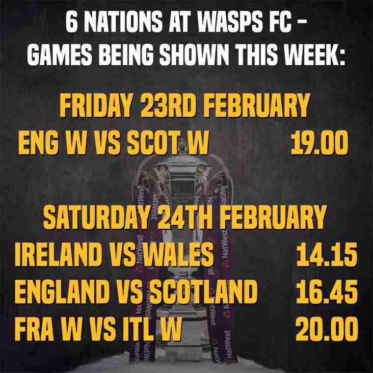 Six Nations Games to be shown at club this weekend
