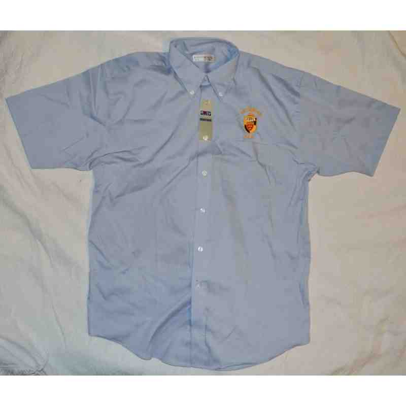 PR232 Short Sleeve Oxford Shirt with Embroidered KRFC Logo