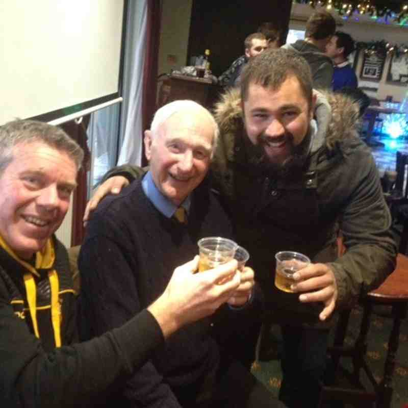 Boxing day Jager Bombs with the KRFC President