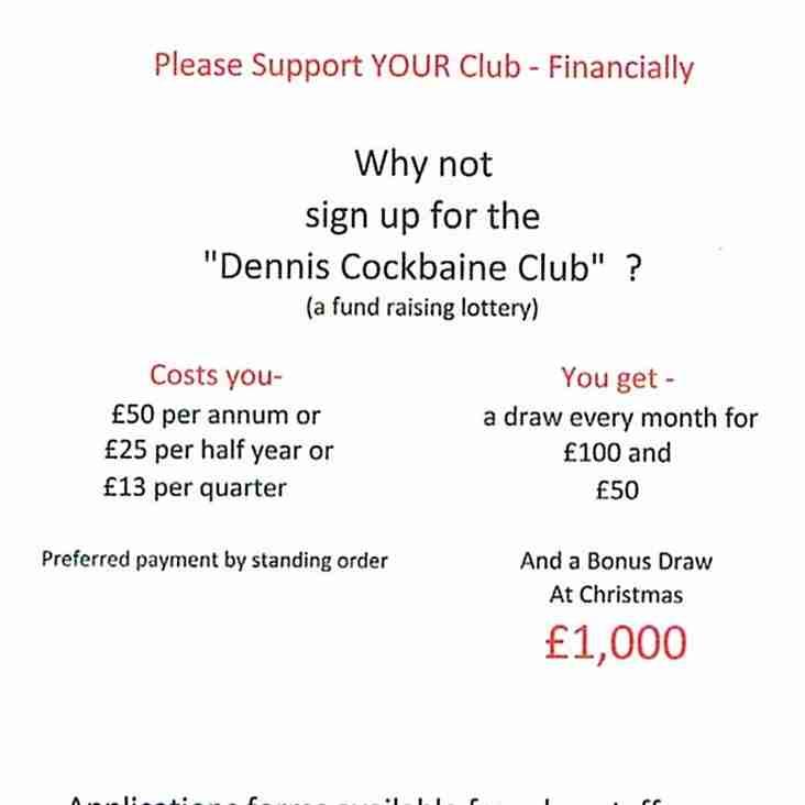 The Dennis Cockbaine Club April  winner's