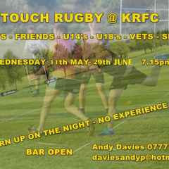 Summer Social touch rugby at KRFC
