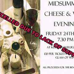 CANCELLED Midsummer Cheese and Wine Evening