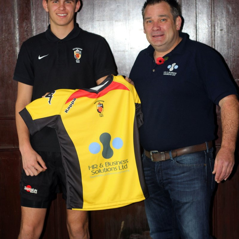 HR Business Solutions sponsor the U18's Squad shirts
