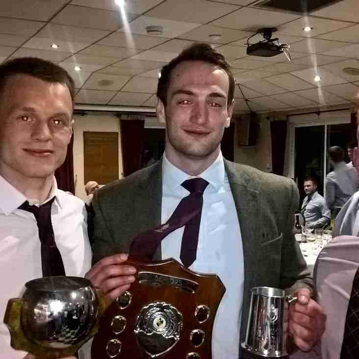 Senior player awards at the Seniors Club dinner